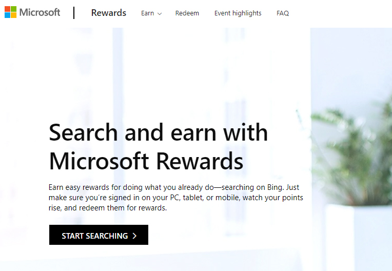 get paid to search the web with microsoft rewards